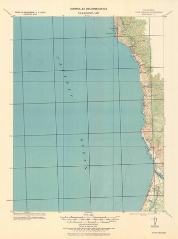 Cape Vizcaino Topographic Map - 1921