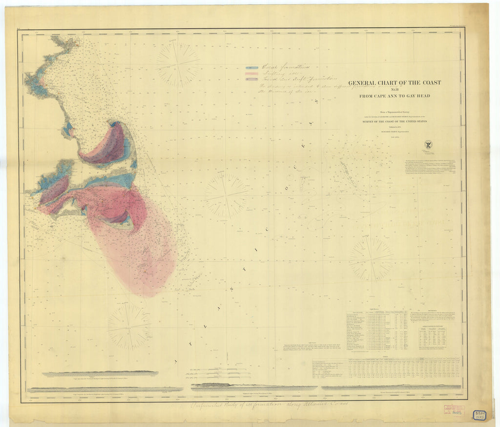 Cape Ann to Gay Head Historical Map - 1873
