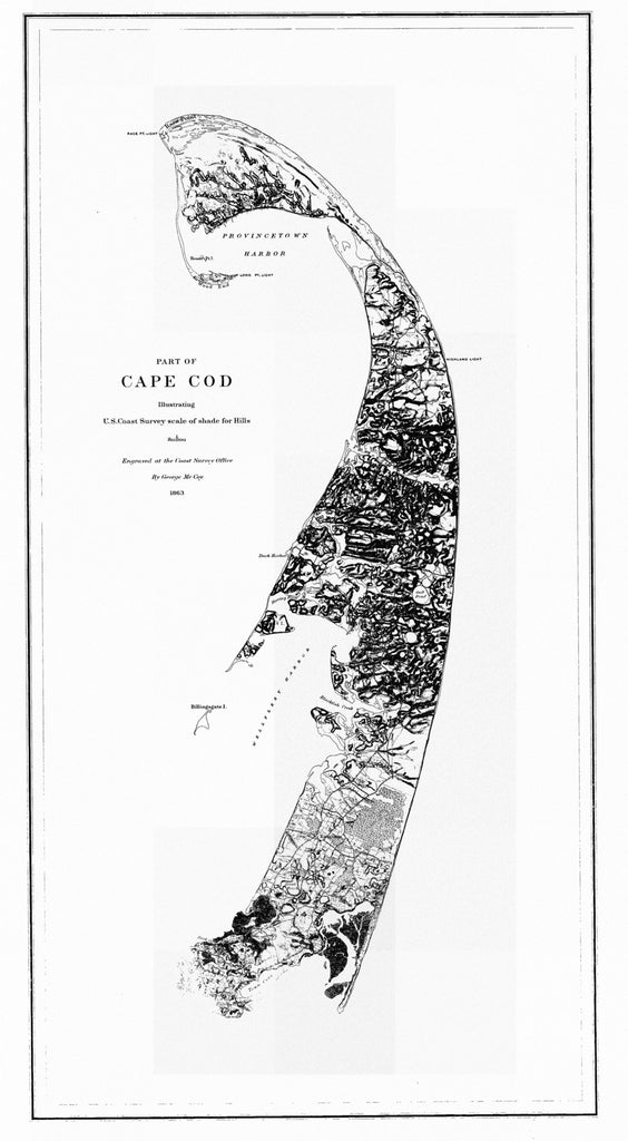 Cape Cod (outer Cape) Historical Map - 1863