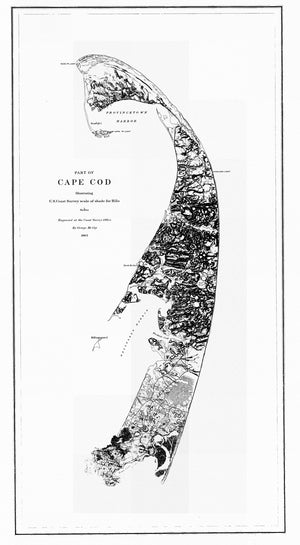Outer Cape Cod Map - 1863