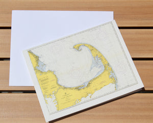 "Cape Cod Map Notecards (1957) 4.25""x5.5"""