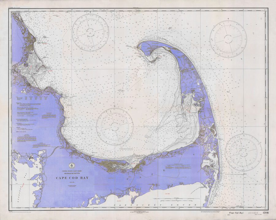 Cape Cod Bay Map - 1933 (Violet)