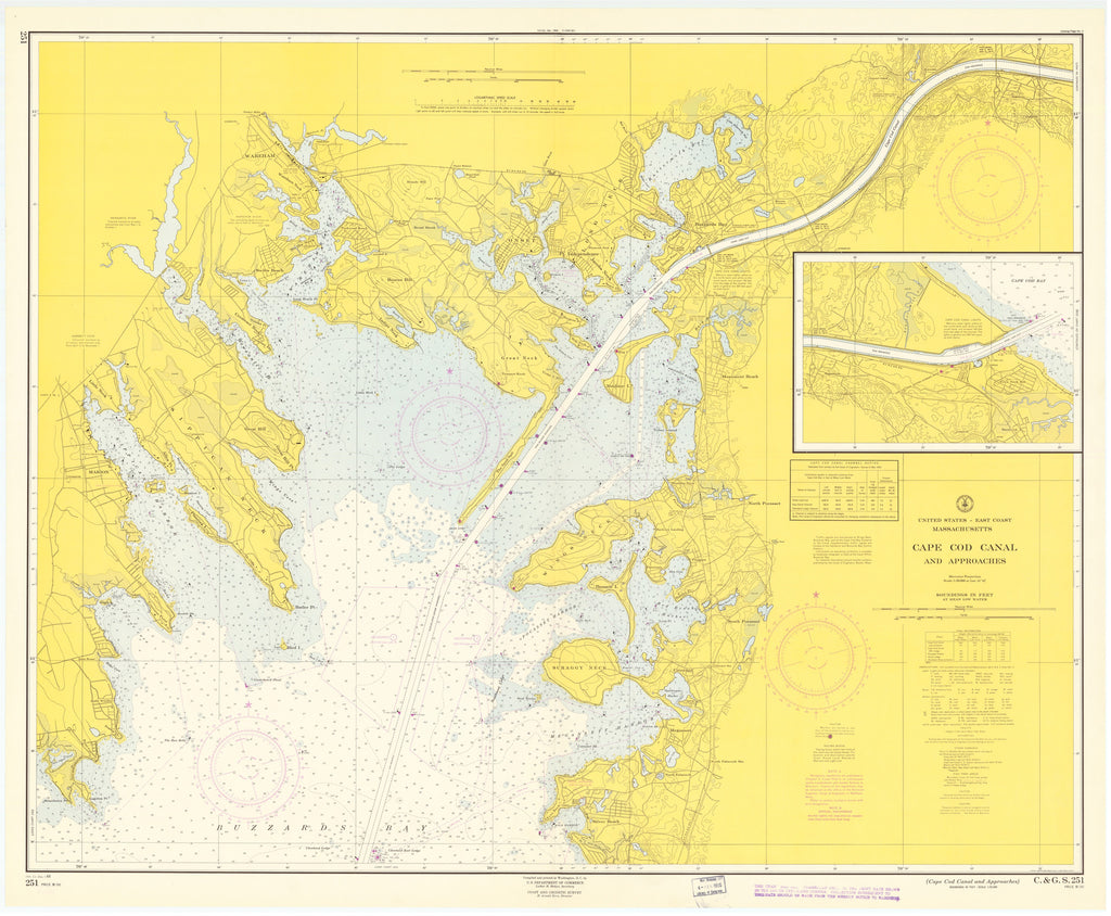 Cape Cod Canal Map - 1964