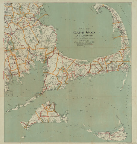 Cape Cod & Islands Vicinity Map