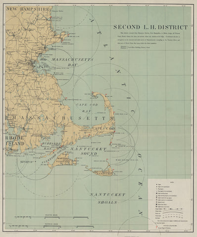 Cape Cod & Islands Lighthouse Map