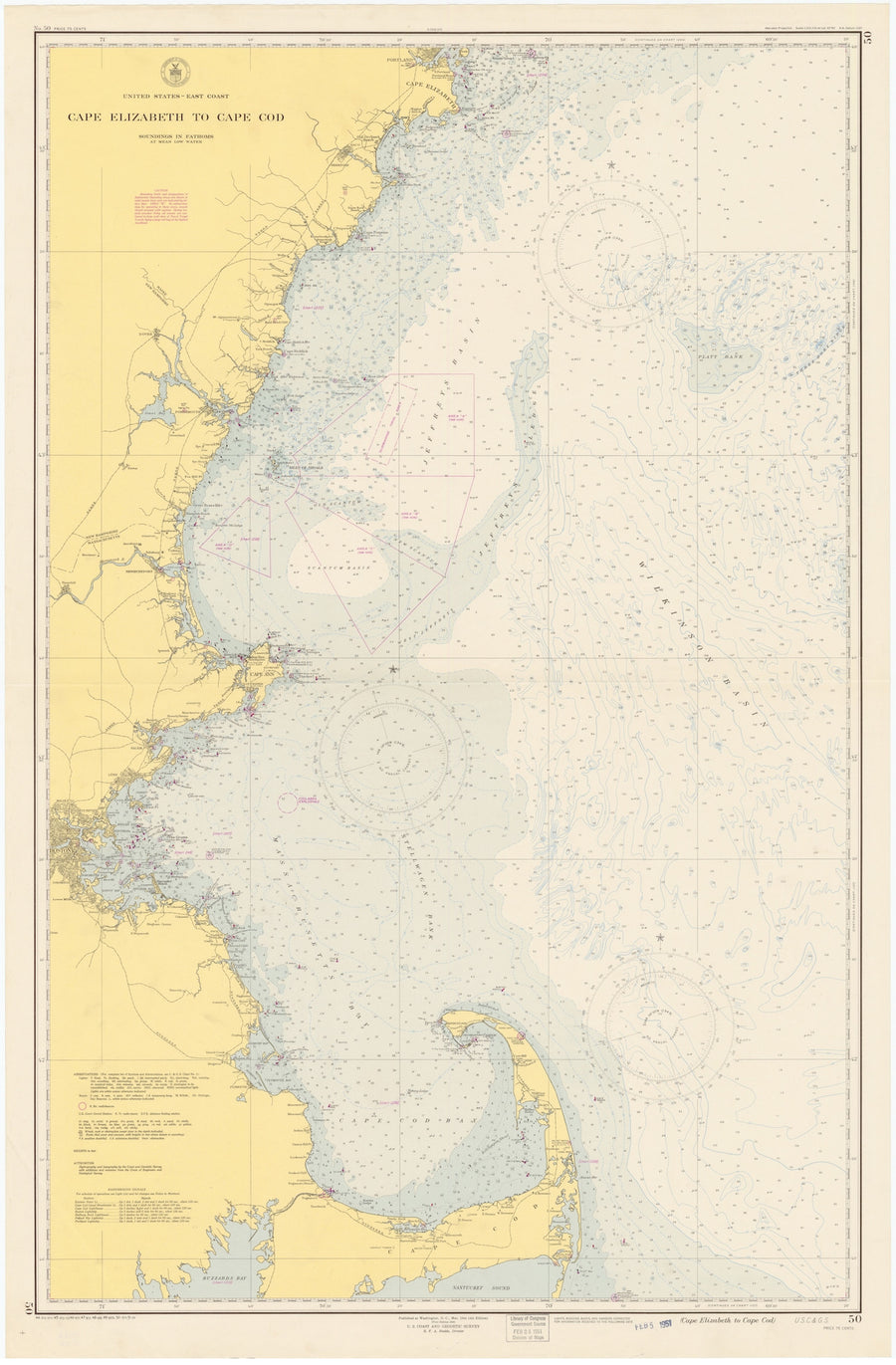 Cape Cod to Cape Elizabeth Map - 1951