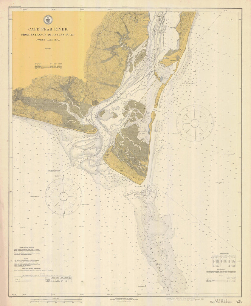 Cape Fear Map - Cape Fear River 1917