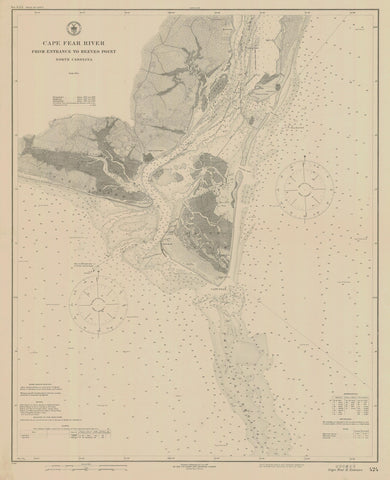 Cape Fear Map - Cape Fear River 1921