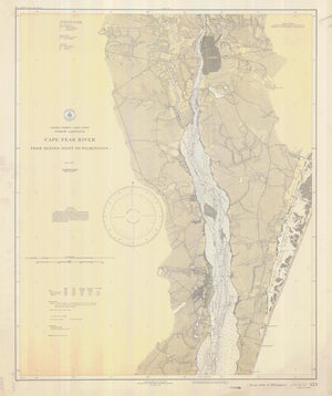 Cape Fear River Map - 1933