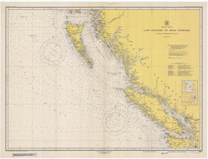 Cape Flattery to Dixon Entrance Map - 1948