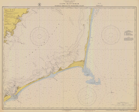 Cape Hatteras - Wimble Shoals to Ocracoke Inlet 1942