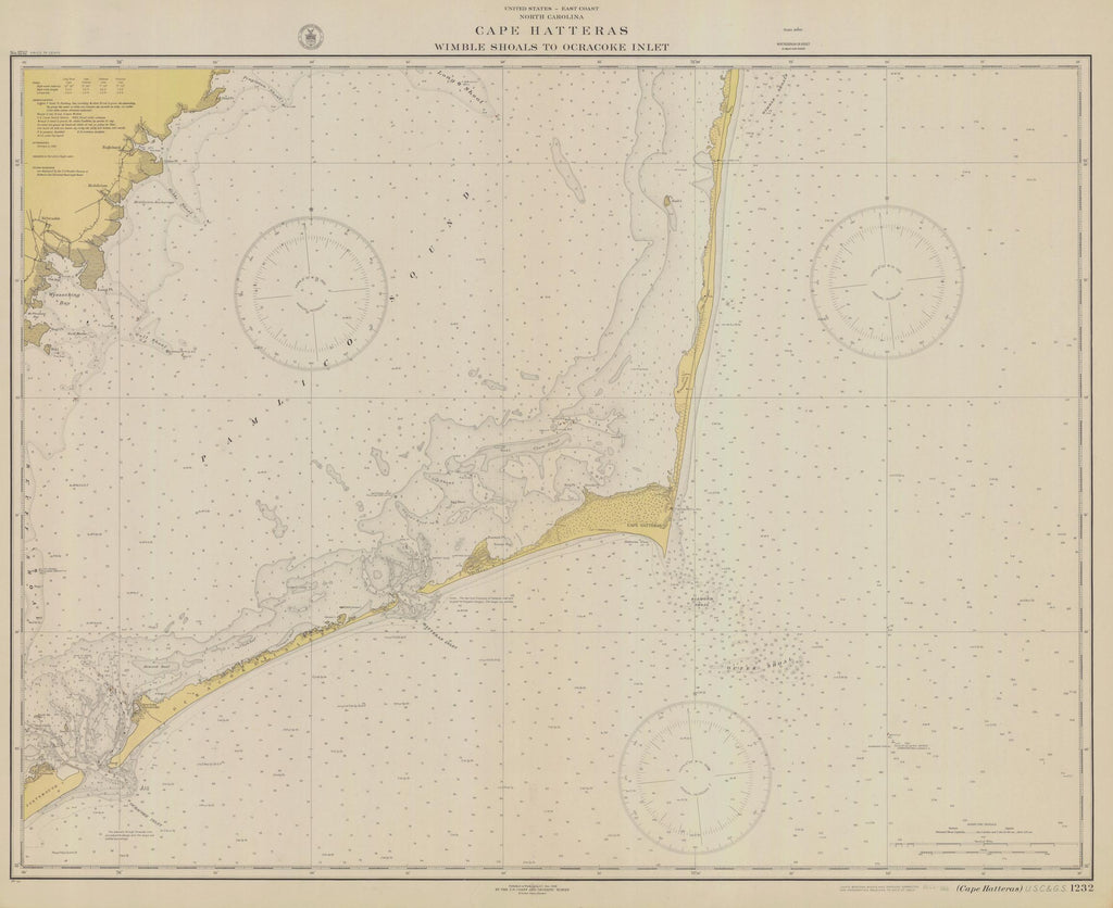 Cape Hatteras - Wimble Shoals to Ocracoke Inlet 1928
