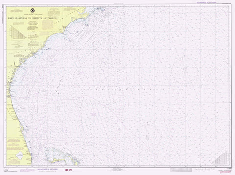 Cape Hatteras to Straits of Florida Map 1978