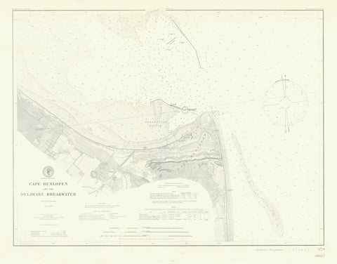 Cape Henlopen and the Delaware Breakwater Map - 1901
