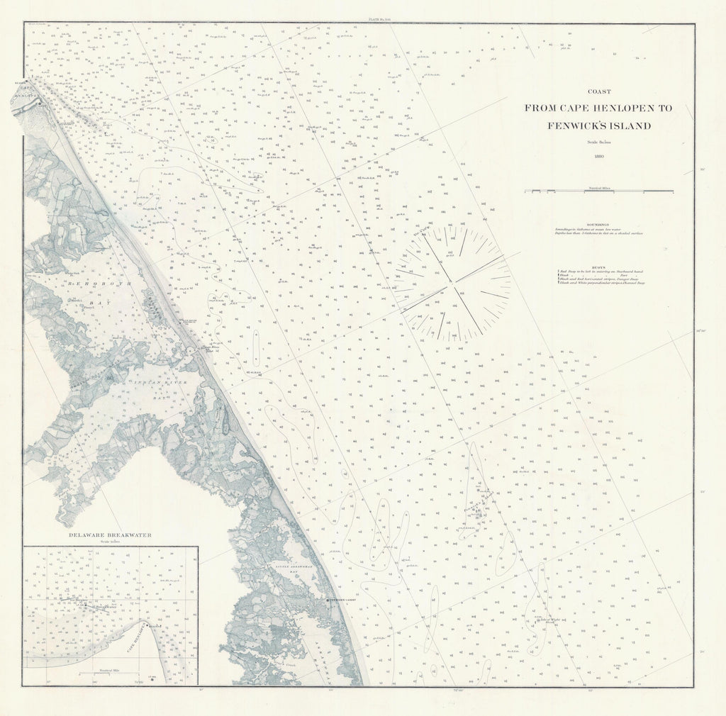 Cape Henlopen to Fenwick's Island Map - 1880