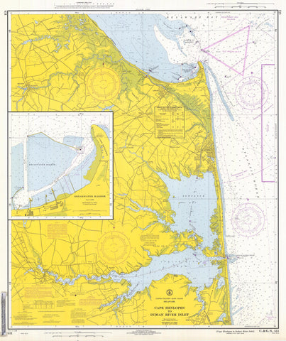 Cape Henlopen to Indian River Inlet Map - 1968