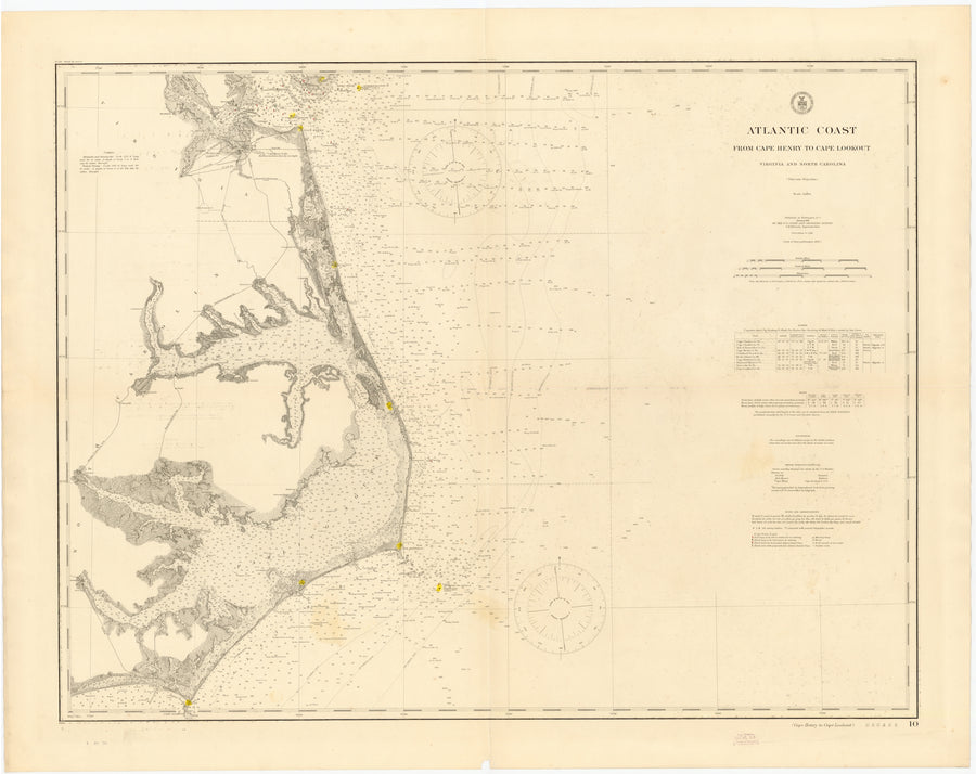 Cape Henry to Cape Lookout Map - 1911
