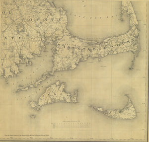 Cape Cod & Islands Map - 1844