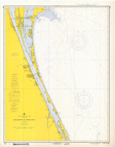 Cape Canaveral to Bethel Shoal Florida Map - 1968