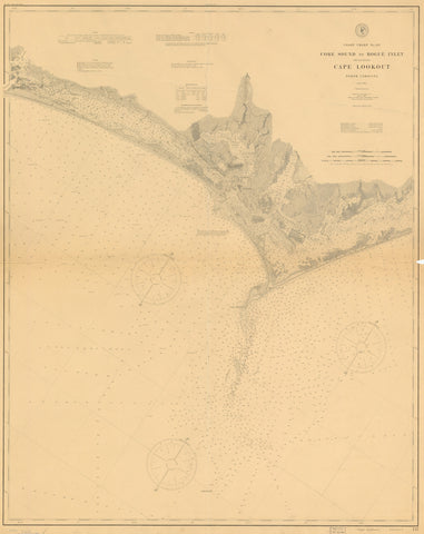 Cape Lookout - Core Sound to Bogue Inlet Map 1905