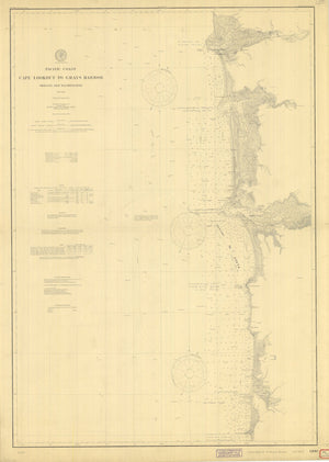Cape Lookout to Gray's Harbor Map 1901