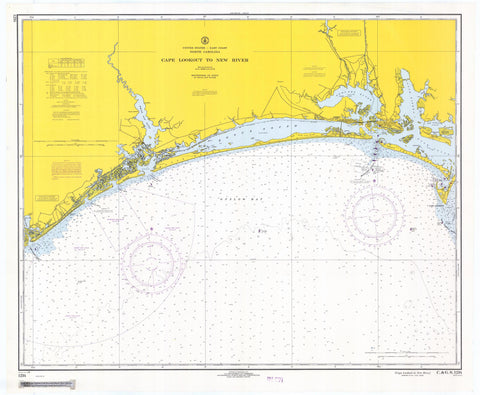 Cape Lookout to New River Map - 1968