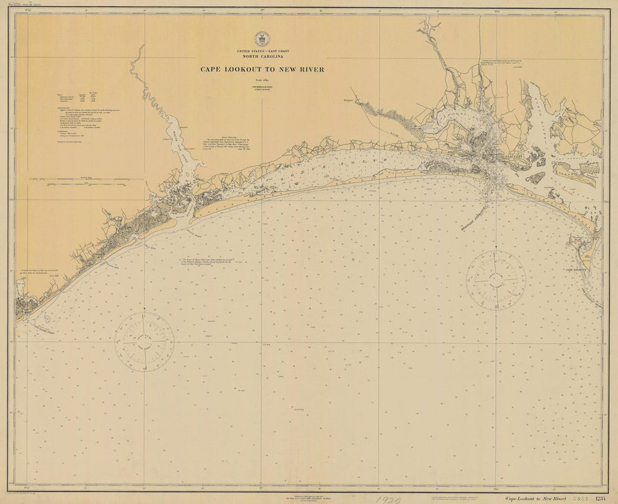 Cape Lookout to New River Map - 1920