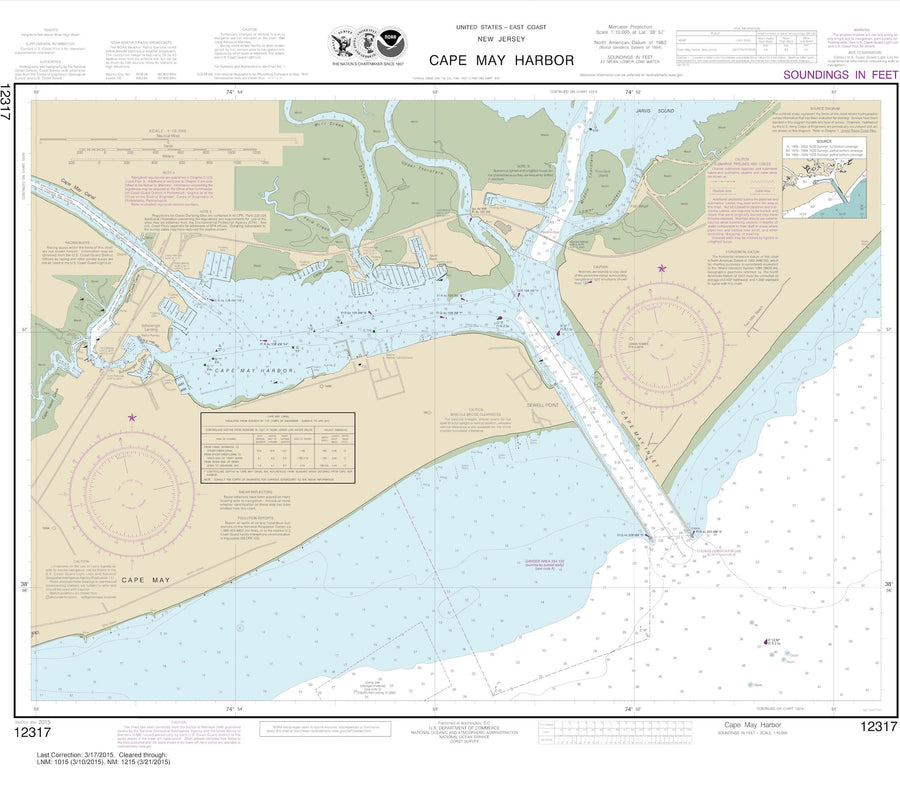 Cape May Harbor Map 2015