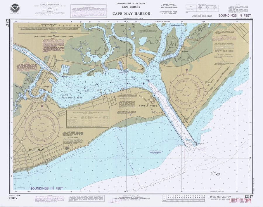 Cape May Harbor Map 1984