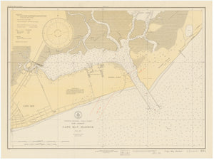 Cape May Harbor Map 1931