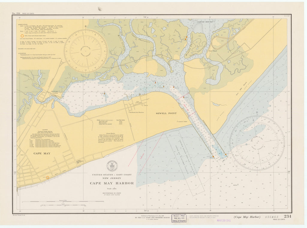 Cape May Harbor Map 1941