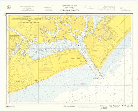 Cape May Harbor Map 1964