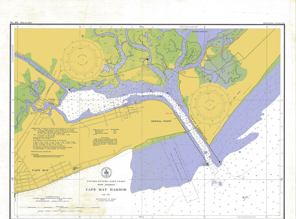 Cape May Harbor Map - Colored