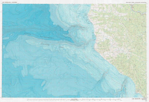 Cape Mendocino Map - 1989