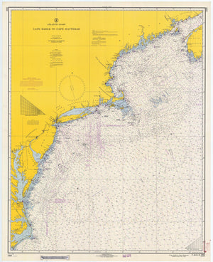Cape Sable to Cape Hatteras Map 1966