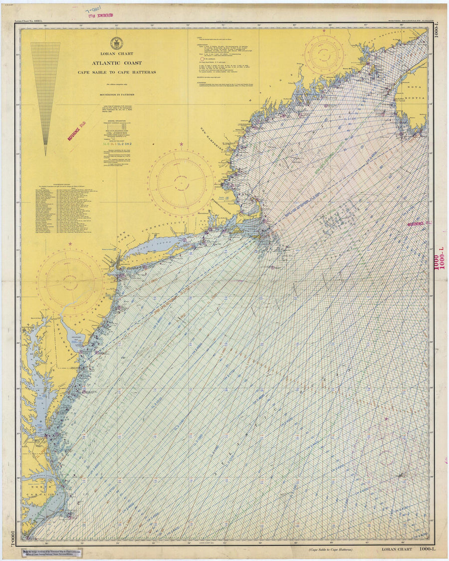 Cape Sable to Cape Hatteras Historical Map 1948