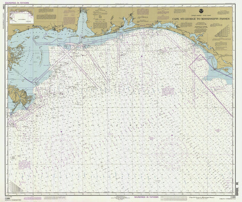 Cape St. George to Mississippi Passes Map - 1995