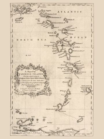 Caribbean Islands Historical Map