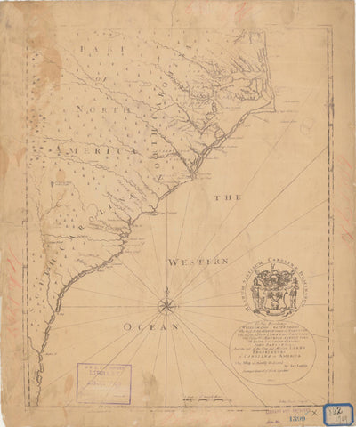 Carolina Coast Map - 1709