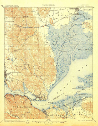Carquinez California Topographic Map - 1901