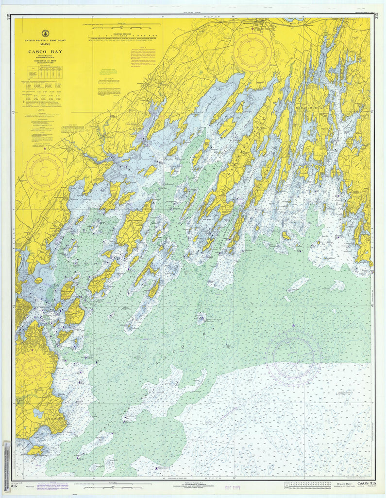 Casco Bay Map - 1971
