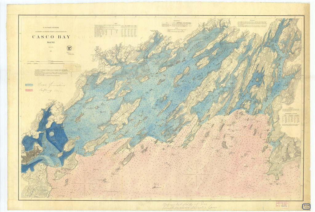 Casco Bay Map - 1870