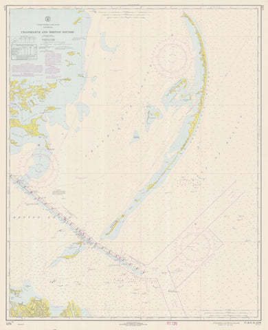 Chandeleur and Breton Sounds Map - Louisiana Historical Chart 1968