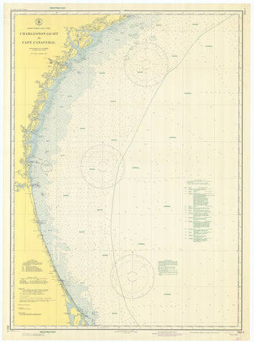 Charleston Light to Cape Canaveral Map - 1943