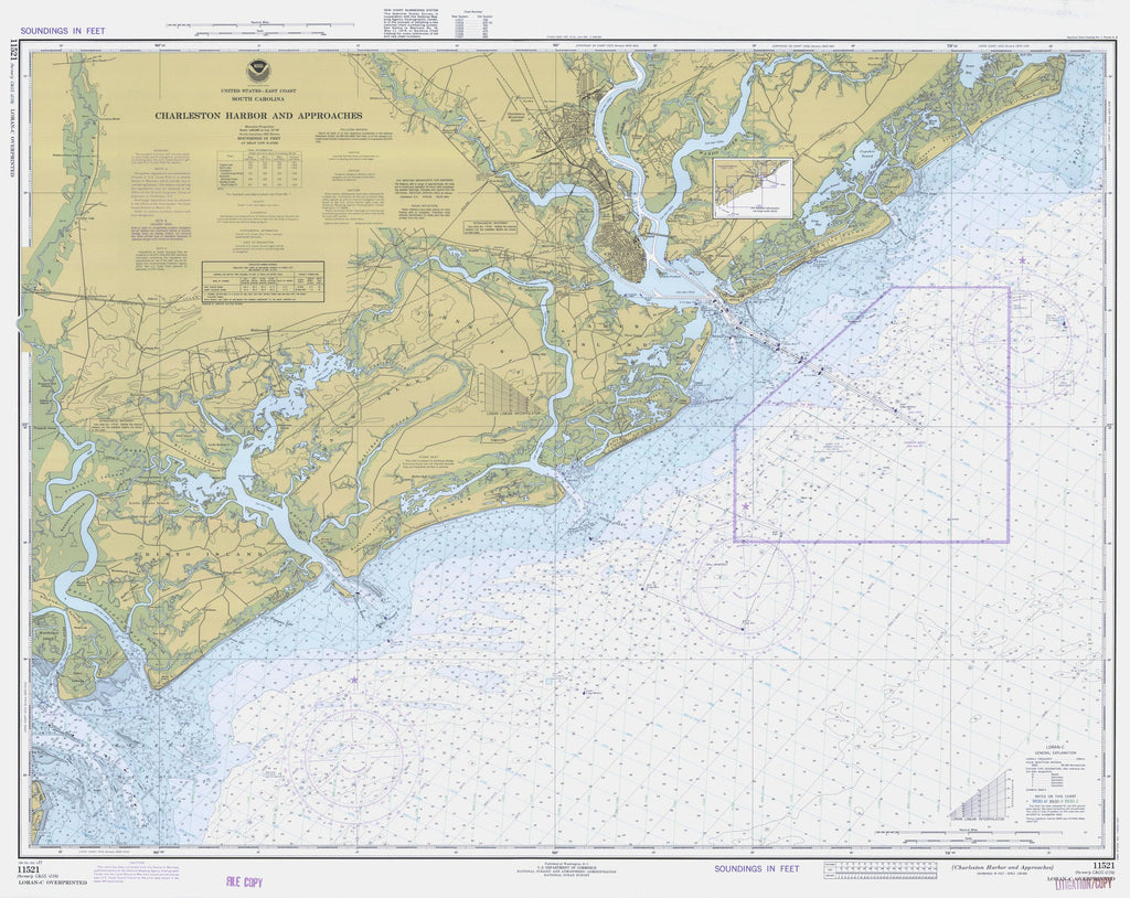 Charleston Harbor and Approaches Map - 1977