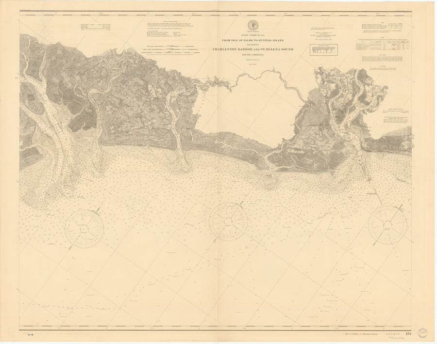 Charleston Harbor and St. Helena Sound Map - 1901