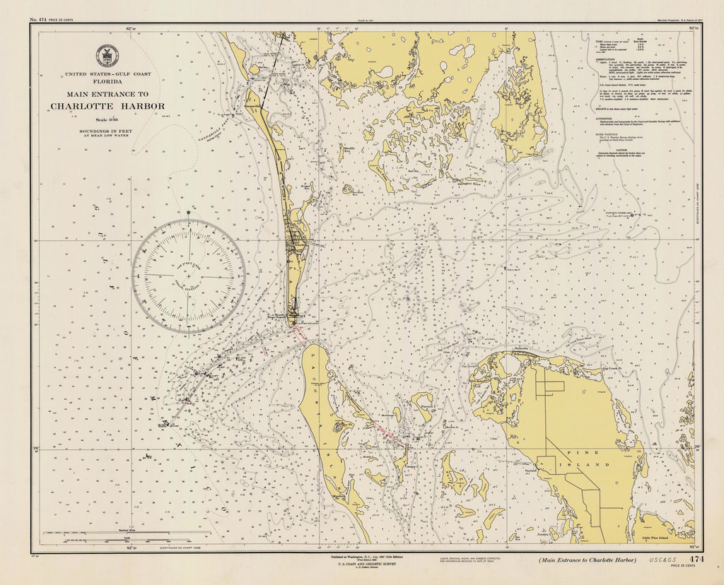 Charlotte Harbor Florida Map - 1947