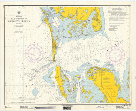 Charlotte Harbor Florida Map - 1961