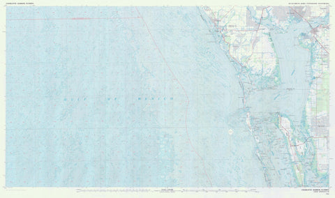 Charlotte Harbor Florida Map - 1981