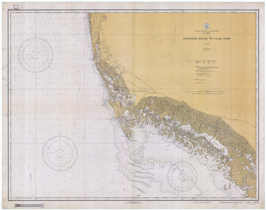Chatham River to Clam Pass Map 1933